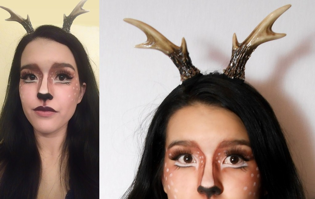 This is a deer makeup look that I created! The antler headband is really important  sc 1 st  BuzzFeed & 16 Deer Makeup And Antler Ideas For The Cutest Halloween Costume