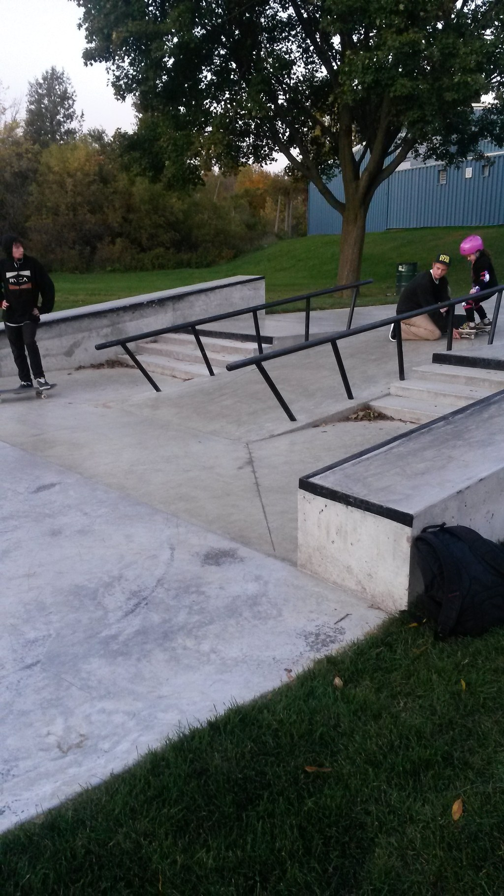 Mature teacher situation turnaround in the skatepark