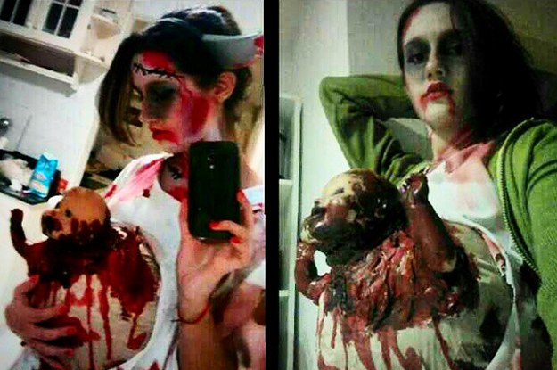 disfraz mujer embarazada zombie