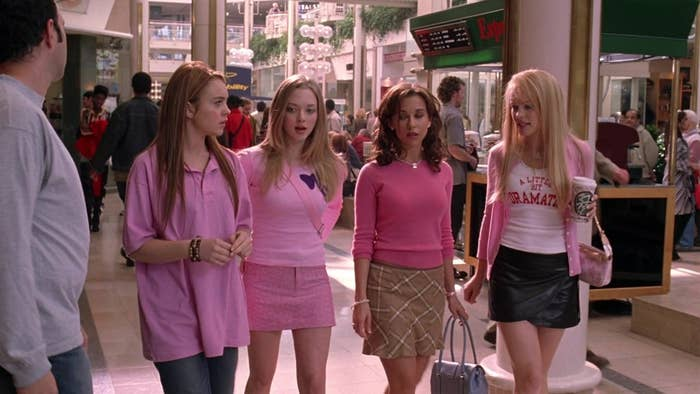 """20 outfits from """"mean girls"""" that no one would ever wear now"""