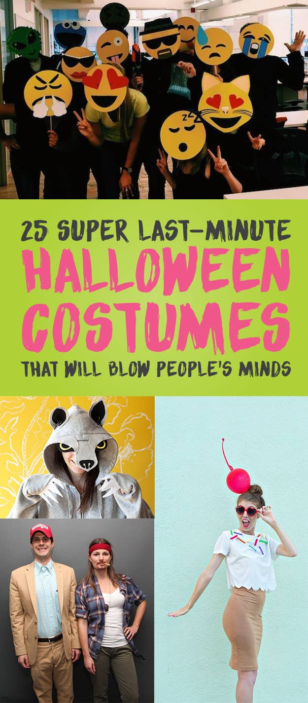 25 Super Last-Minute Halloween Costumes That Will Blow People\'s Minds