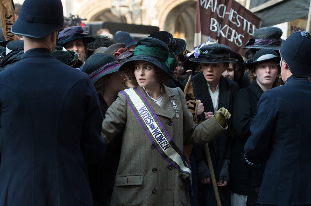 Helena Bonham Carter in Suffragette.
