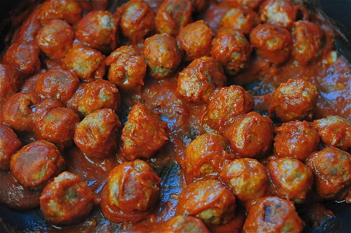 Submitted by elynnelim.Get the recipe for these doctored Swedish meatballs here.