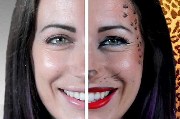 simple leopard halloween makeup you can do in 10 minutes