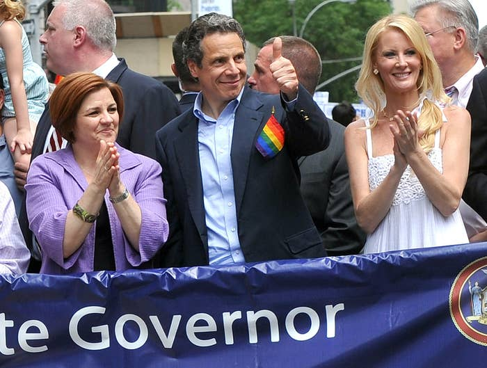 Gov. Andrew Cuomo walks in an LGBT pride march in New York City in 2011.