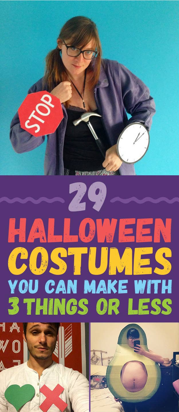 29 Halloween Costumes You Can Make With Three Things Or Fewer