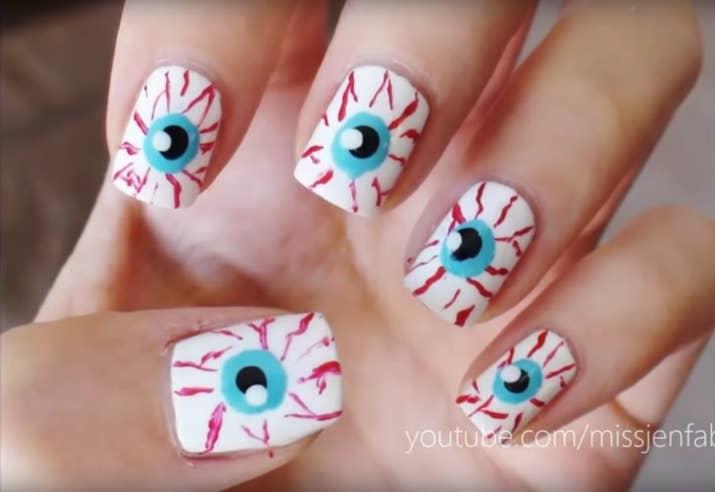 10 Diseños de uñas para Halloween bellos y súper fáciles de hacer