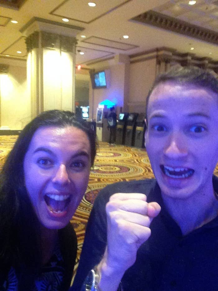 This pic was from our first AC trip and what inside joke did this spark? The white lions of course...and you are 70$ richer because of it. #you'rewelcome