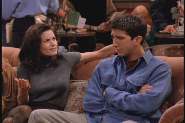 We are just as confused as you Monica!His name is David fucking Schwimmer! That wreaks of Jew. I mean were they adopted siblings? Did she convert to Judaism? What part of blue eyes, small nose, and non frizzy hair makes you think she is still waiting for the Messiah?