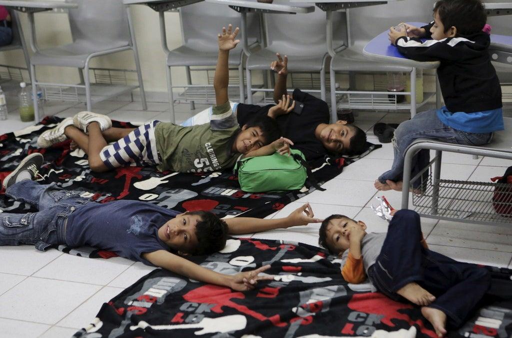 Children who were evacuated to the University of Puerto Vallarta