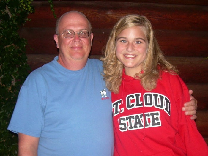 """The Minnesota-based Hokanson and her family headed to a softball game in Sioux Falls, South Dakota, where they met the man who saved her life.""""A year after the operation, if both parties want to, you can decide to meet,"""" Hokanson said. """"Before I met him, he was this amazing man who gave his bone marrow to me without knowing anything about me. It was incredible seeing him standing right there in front of me."""""""