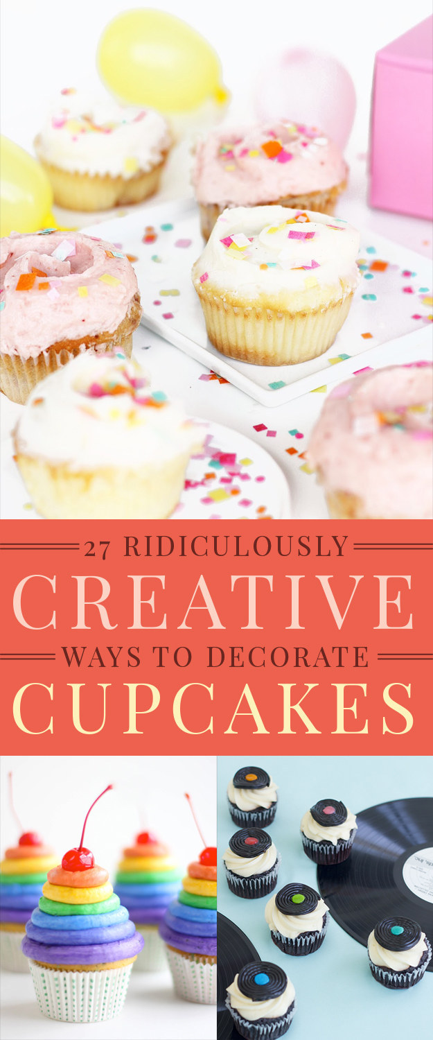 27 Ridiculously Creative Ways To Decorate Cupcakes
