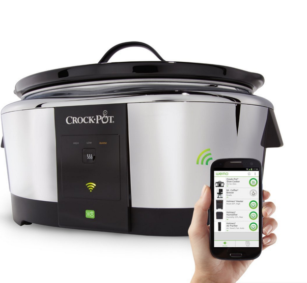 Or, if you've got ~cash to burn~, invest in a WiFi-enabled Crock Pot that you can control from your phone.