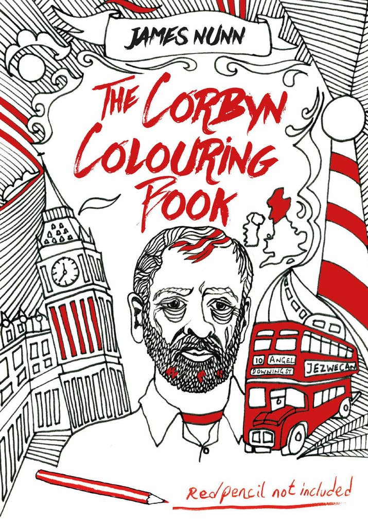 its the item weve all been waiting for someones created a jeremy corbyn colouring book for adults featuring dozens of drawings of the labour leader - Cartoon Colouring Book