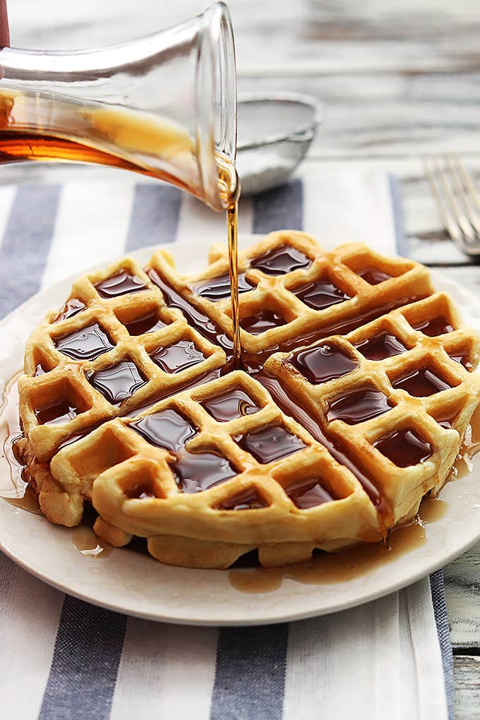 Dutch cream waffle recipe here.