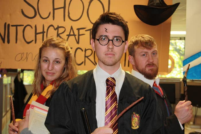 Harry, Ron, and Hermione.