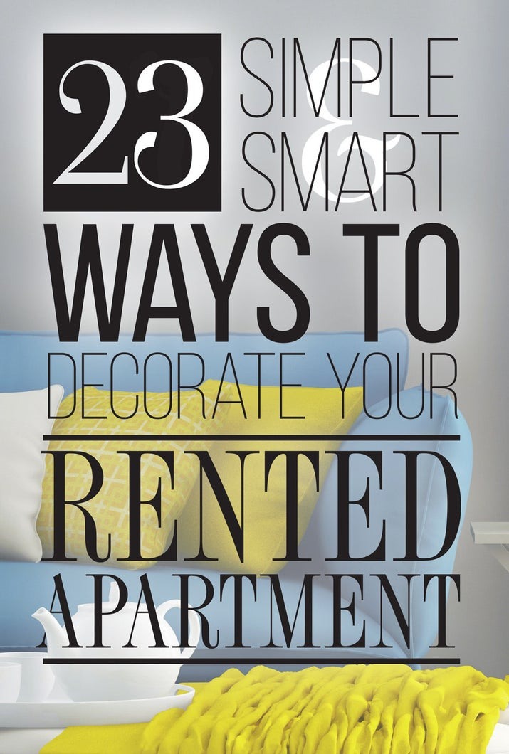 Ways To Decorate Your Apartment 23 cleverly creative ways to decorate your rented apartment