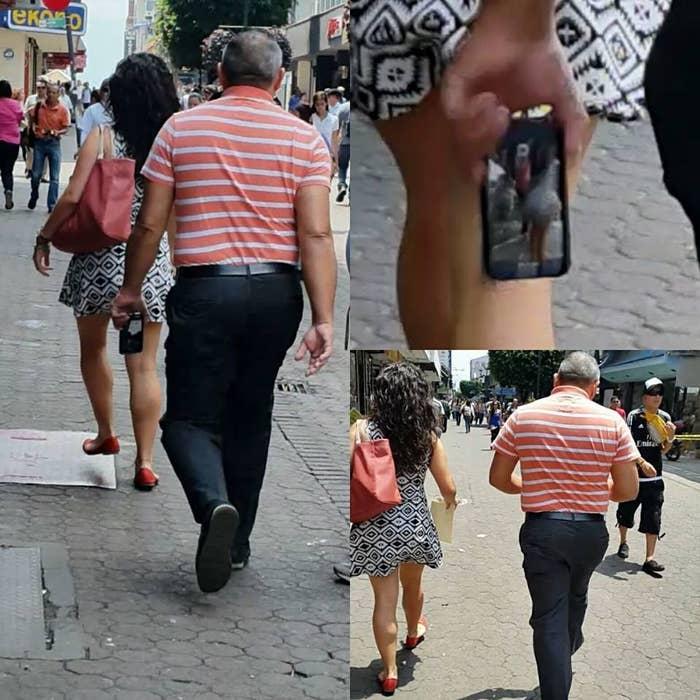 b2e3f931b Este hombre fue sorprendido grabando bajo la falda de una joven