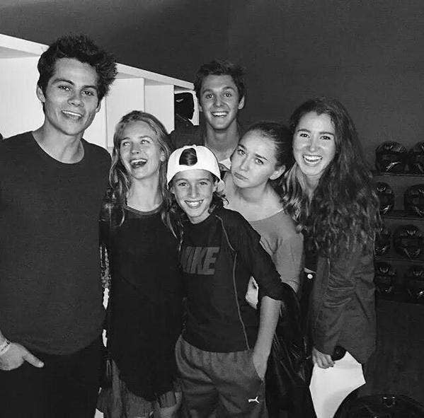 Dylan and Britt with their fans