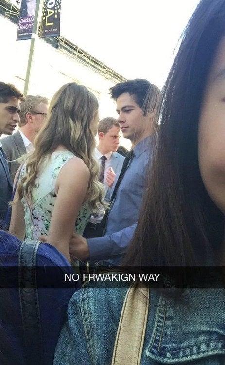 Picture of Britt with her boyfriend Dylan taken by some stalker