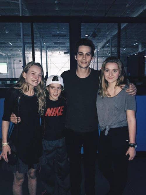Dylan Britt with their fans