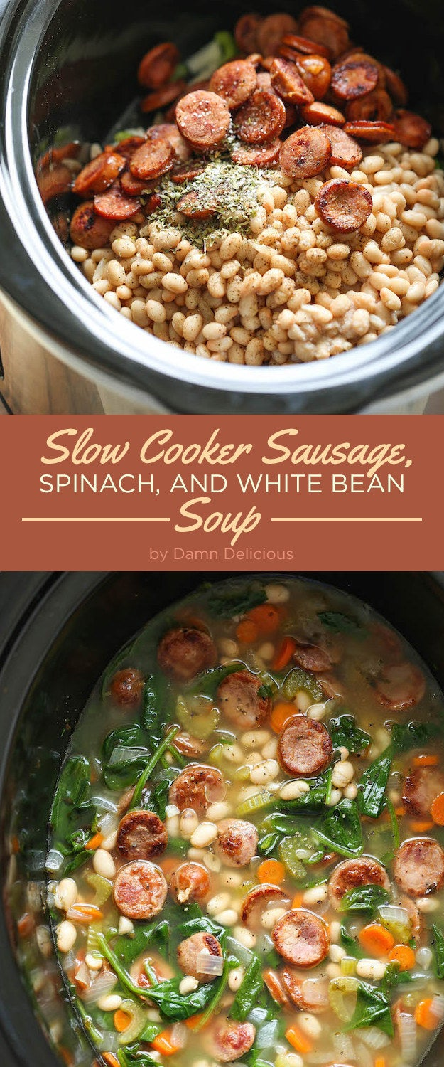 Soup is better when it sits in a slow cooker all day, just waiting until you're ready. Recipe here.