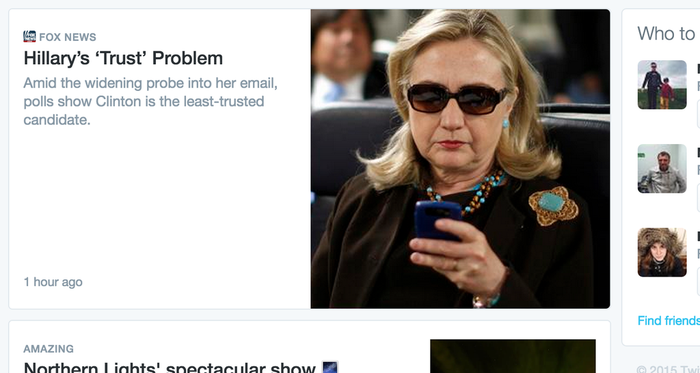 Screenshot from Twitter's Moments tab Thursday.