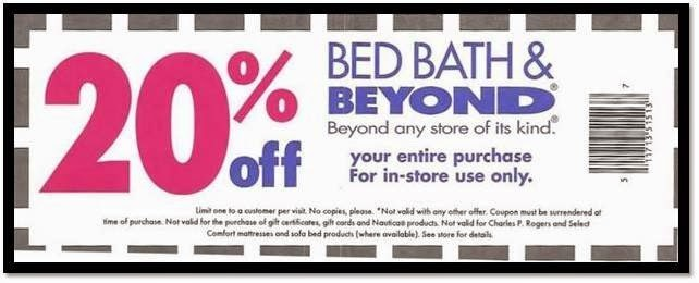 bed bath and beyond 20 percent off entire order coupon