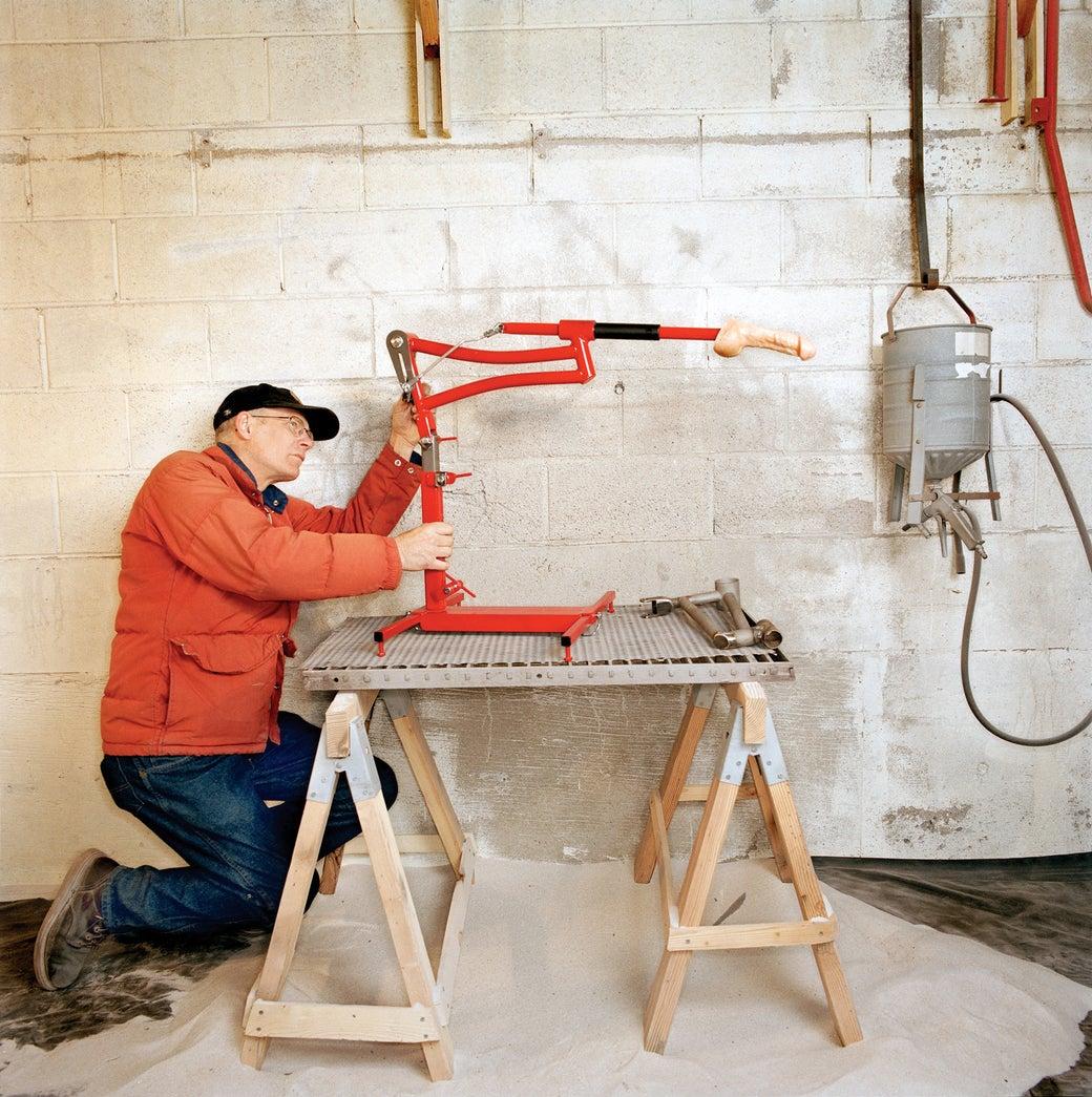 Механический станок с вибратором.своими руками
