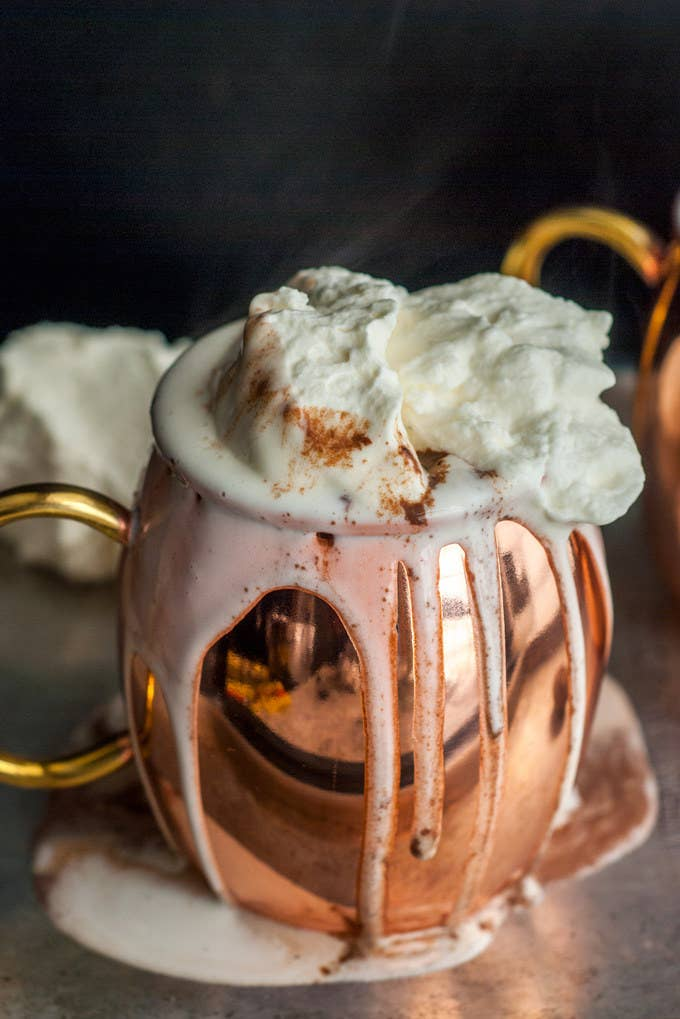 Doesn't this hot chocolate look just dreamy to you?Recipe here.