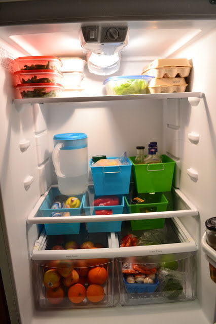 Organize Your Fridge With A Few Small Bins.