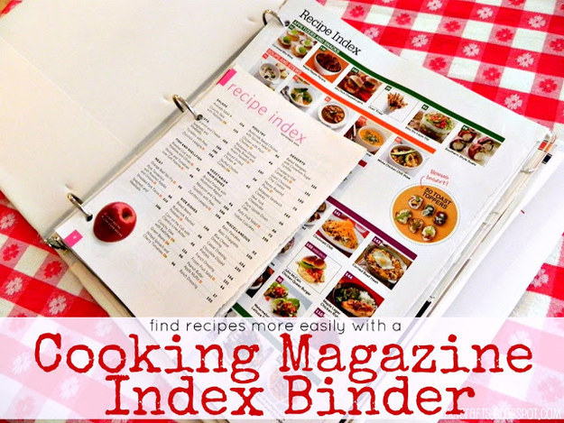 Pick up a binder to house all of your favorite recipes.