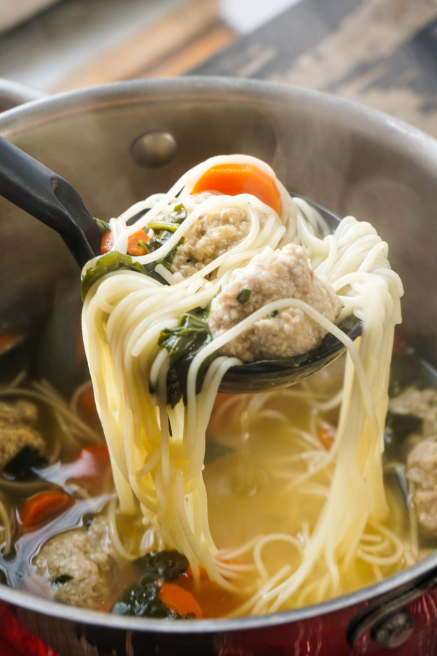 Feel Good Turkey Meatball Soup