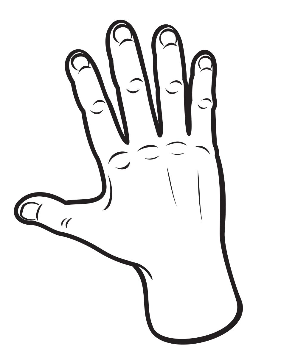 рисунок ладони руки вас