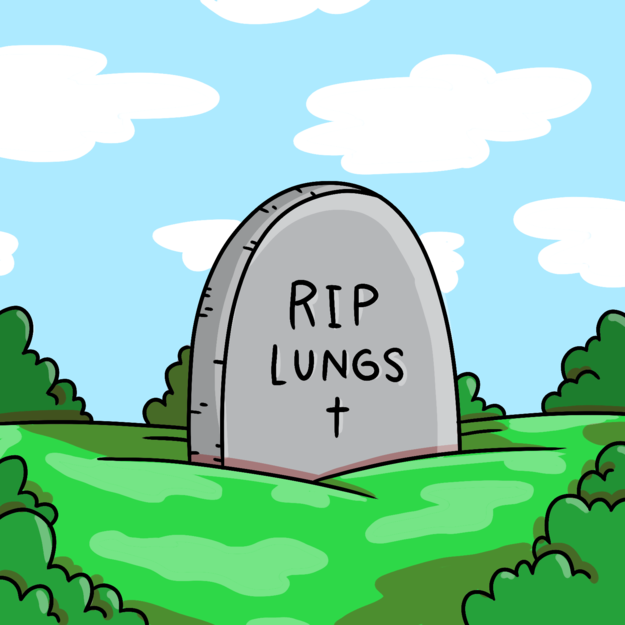 Your lungs fall out of your butt.