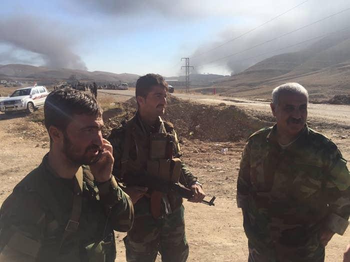 Yazidi soldiers have joined Kurdish peshmerga forces to retake Sinjar.