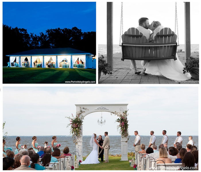 If you're a mermaid at heart and have always dreamed of getting married by the water, Neuse Breeze is your go-to wedding destination. Nestled on the edge of the Neuse River, this venue has a stunning view of the Pamlico Sound and an estate that can accommodate your wedding party no matter how big or small.