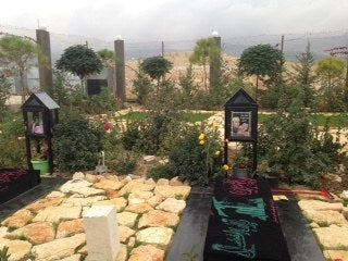 Grave of a Hezbollah fighter who was killed in Syria.