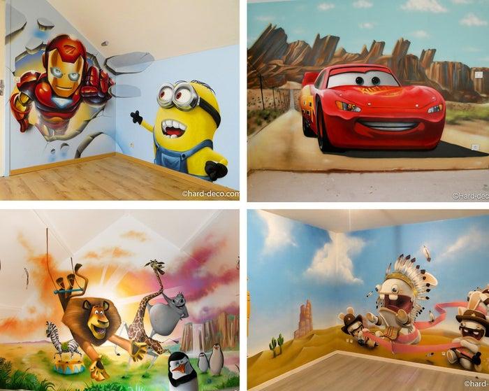 Les personnages des films d'animation sont souvent un excellent point de départ pour trouver un sujet de murale pour la chambre d'enfant. Les dessins animés regorgent de personnages drôles, intrépides et attachants que vos enfants, et même vous avouez-le, adorent et adoreront longtemps!