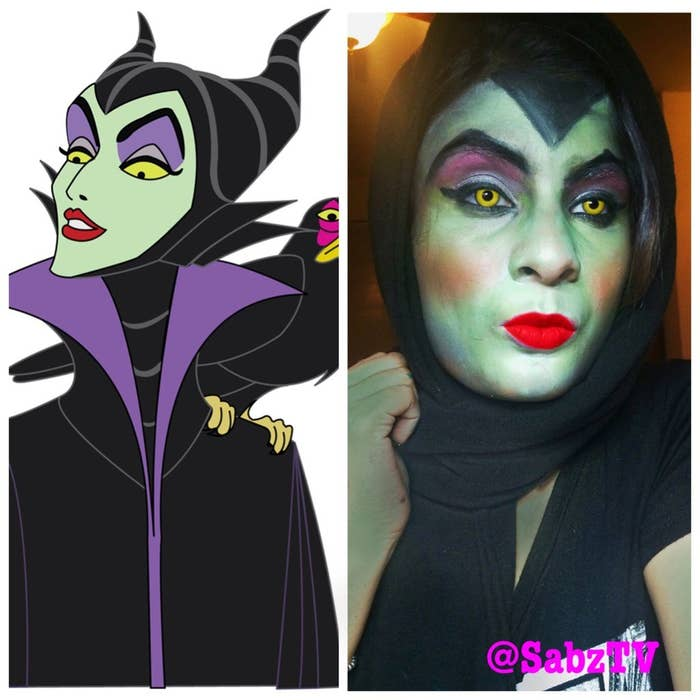 Maleficent Makeup Done By Me