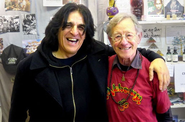 Lee Harris (right) with Jaz Coleman, lead singer of the punk band Killing Joke.