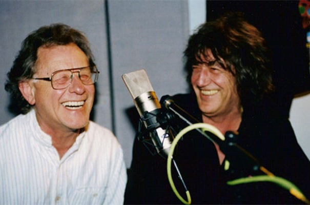Lee Harris (left) with Howard Marks, the notorious cannabis smuggler and author of Mr Nice.