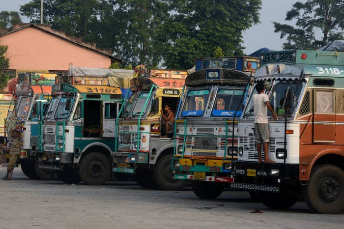 Indian trucks have been stuck at the border, unable to enter Nepal for months now.