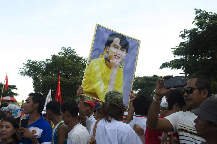 One trend that has cropped up over the last few weeks are supporters choosing to tattoo themselves with the face of the country's opposition leader, democracy icon Aung San Suu Kyi.