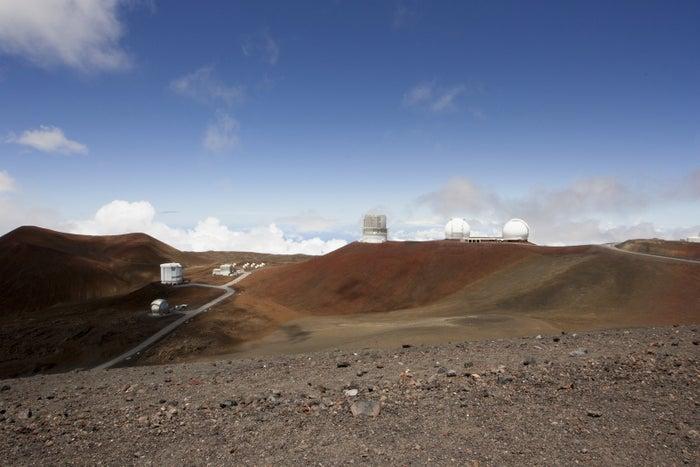 Telescopes on the summit of Mauna Kea on Hawaii'€™s Big Island.