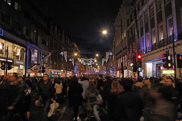 """""""I didn't realise leaving my office today would subject me to such festive congestion."""""""