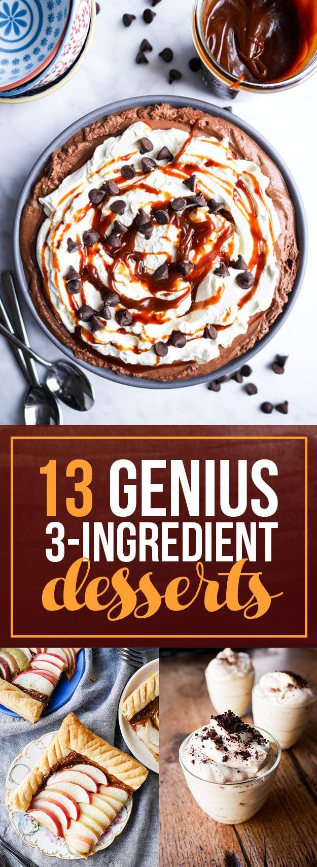 13 Insanely Easy Three-Ingredient Desserts
