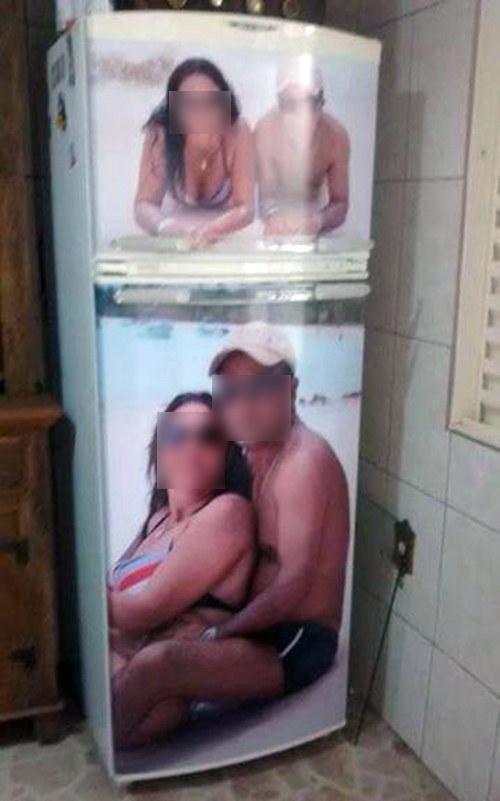 Esta geladeira.