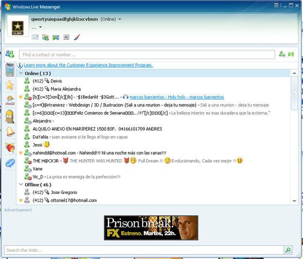 En vez de expresarte con interminables textos en Facebook, te expresabas con letras de canciones en tu status de MSN.