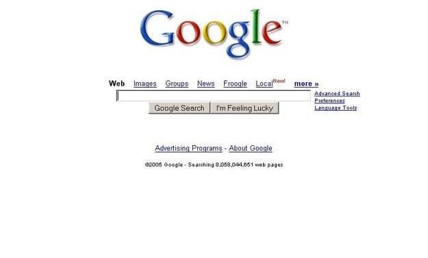 Y Google era así de hermoso.